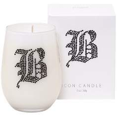 "Letter ""B"" Fragrant Monogram Stemless Wine Glass Candle"
