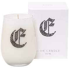"Letter ""E"" Fragrant Monogram Stemless Wine Glass Candle"