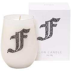 "Letter ""F"" Fragrant Monogram Stemless Wine Glass Candle"