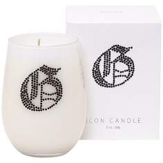 "Letter ""G"" Fragrant Monogram Stemless Wine Glass Candle"