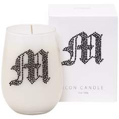 "Letter ""M"" Fragrant Monogram Stemless Wine Glass Candle"