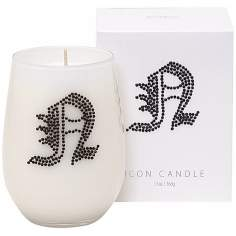 "Letter ""N"" Fragrant Monogram Stemless Wine Glass Candle"