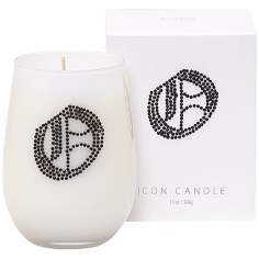 "Letter ""O"" Fragrant Monogram Stemless Wine Glass Candle"