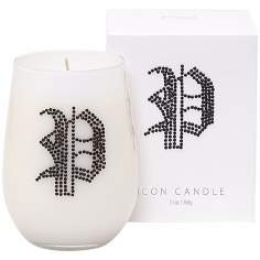 "Letter ""P"" Fragrant Monogram Stemless Wine Glass Candle"