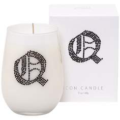 "Letter ""Q"" Fragrant Monogram Stemless Wine Glass Candle"