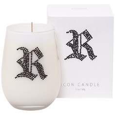 "Letter ""R"" Fragrant Monogram Stemless Wine Glass Candle"