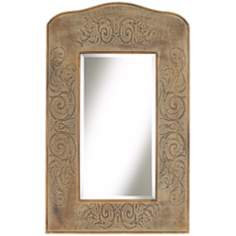"Lisbeth Sand 41 1/4"" High Crown Wall Mirror"