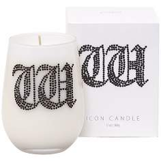 "Letter ""W"" Fragrant Monogram Stemless Wine Glass Candle"