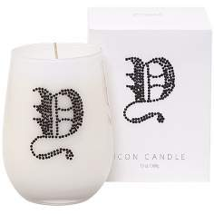 "Letter ""Y"" Fragrant Monogram Stemless Wine Glass Candle"