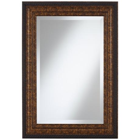 "Uttermost Sinatra 35"" High Framed Wall Mirror"