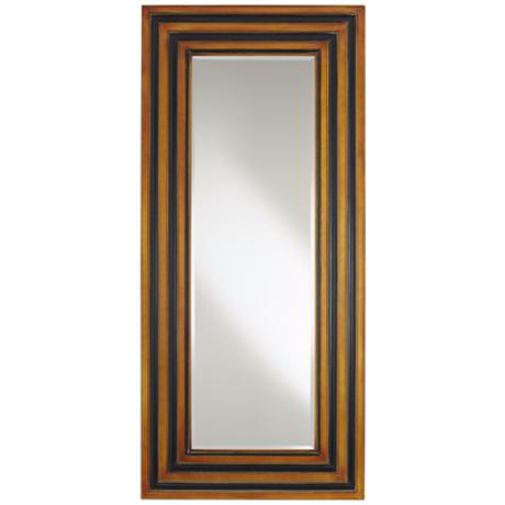 "Cardona Brown Wood 77"" High Leaner Mirror"