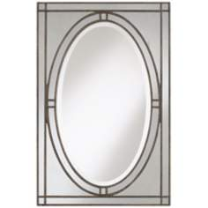 "Uttermost 39"" High Earnistine Wall Mirror"