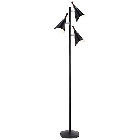 Draper 3-Light Mid-Century Modern Floor Lamp