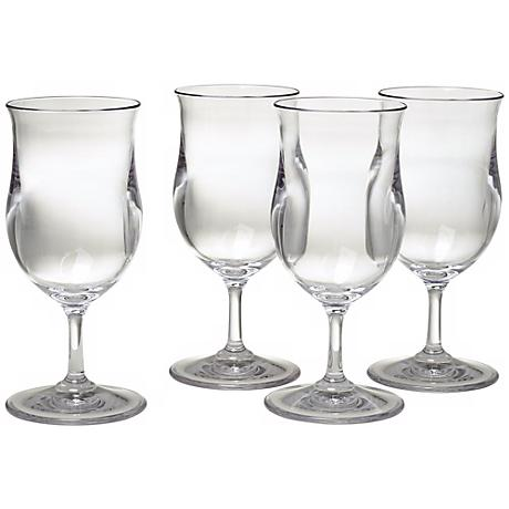 Set of 4 Pina Colada Glasses