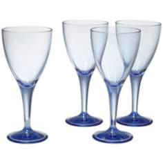 Set of 4 Pacific Blue Wine Goblets