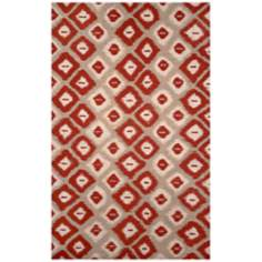 Liora Manne Visions II Ikat Diamonds Red Area Rug