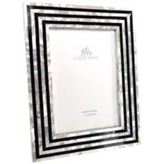 Black and White Art Deco Mother of Pearl 5x7 Picture Frame
