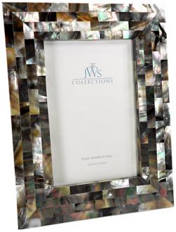 Black Mother of Pearl 4x6 Photo Frame (W4929)