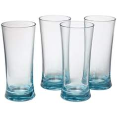 Set of 4 Glacier Blue 22 Oz. Polycarbonate Cooler Tumblers