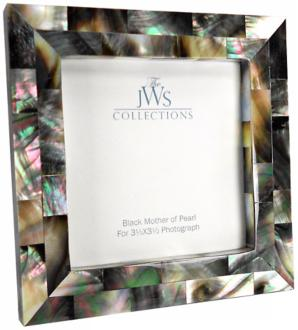 Black Mother of Pearl 3.5x3.5 Photo Frame (W4954)