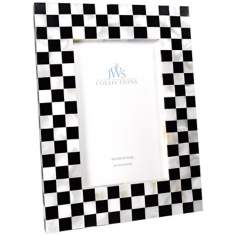 Checkered Mother of Pearl 4x6 Photo Frame