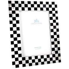 Checkered 5x7 Mother of Pearl Photo Frame