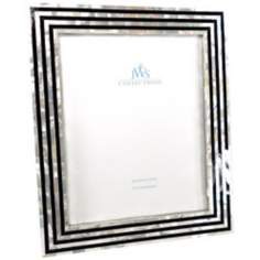 Black and White Art Deco Mother of Pearl 8x10 Picture Frame
