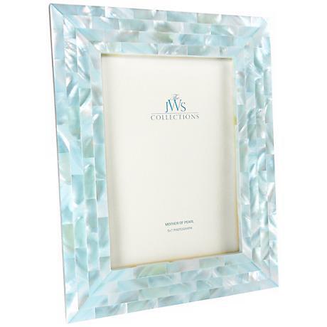 Blue Mother of Pearl 5x7 Frame