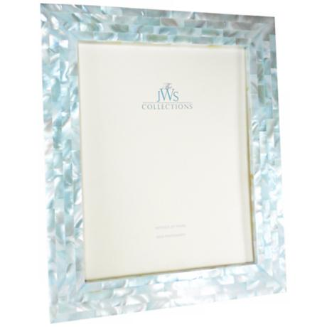 Blue Mother Of Pearl 8x10 Frame W4971 Www Lampsplus Com