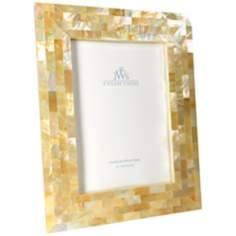 Golden Mother of Pearl Oyster Shell 5x7 Picture Frame