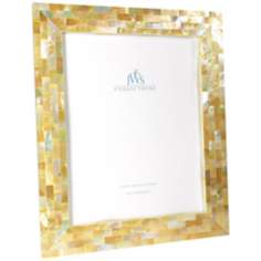 Golden Mother of Pearl Oyster Shell 8x10 Picture Frame