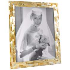 Golden Mother of Pearl 11x14 Photo Frame