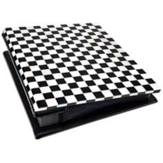 Checkered Mother of Pearl 4x6 Photo Album