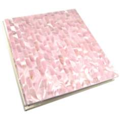 Soft Pink Mother of Pearl 4x6 Photo Album