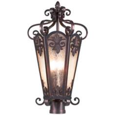 "Lonsdale 13 1/2"" Wide Antique Sable Outdoor Post Light"