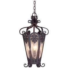 "Lonsdale 13 1/2"" Wide Antique Sable Outdoor Pendant Light"