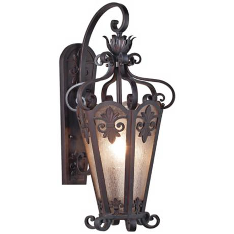 "Lonsdale 11"" Wide Antique Sable Outdoor Wall Light"