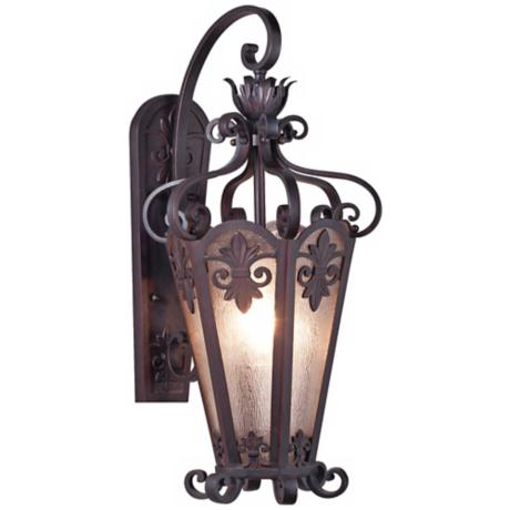 "Lonsdale 28"" High Antique Sable Outdoor Wall Light"