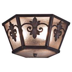 "Lonsdale 15 1/2"" Wide Antique Sable Ceiling Light"