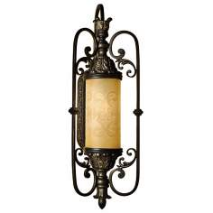 "Glenhaven 30 1/2"" High Antique Iron Outdoor Wall Sconce"