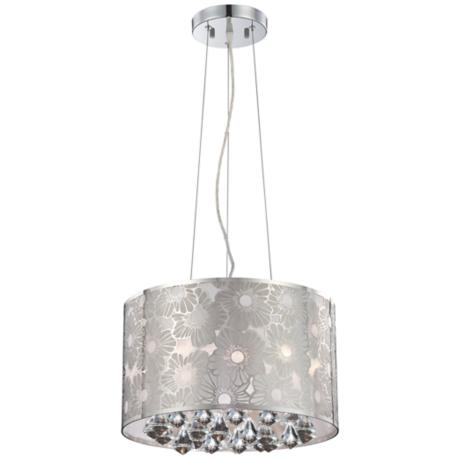 Lite Source Floral Crystal Pendant Light
