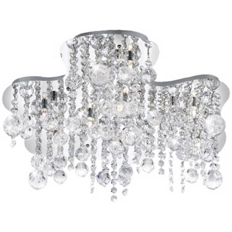 "Alissa 18 1/2"" Wide Chrome and Crystal Ceiling Light"