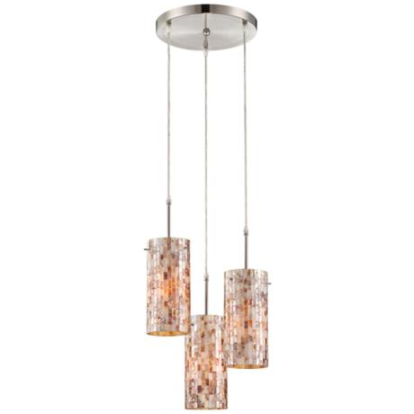 Lite Source Schale Collection Shell Mosaic Pendant Light
