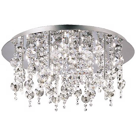 "Galassia 26 3/4"" Wide Chrome and Crystal Ceiling Light"