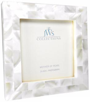 White Mother of Pearl 3.5x3.5 Photo Frame (W5085)