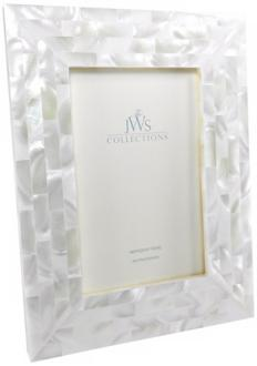 White Mother of Pearl 4x6 Photo Frame (W5087)