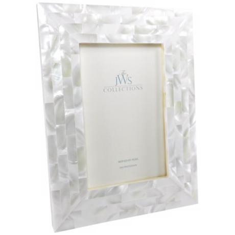 White Mother Of Pearl 4x6 Photo Frame W5087 Www