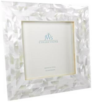 White Mother of Pearl 5x5 Photo Frame (W5088)