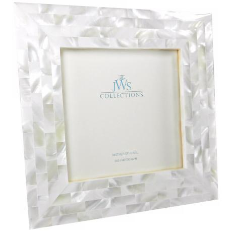 White Mother Of Pearl 5x5 Photo Frame W5088 Www