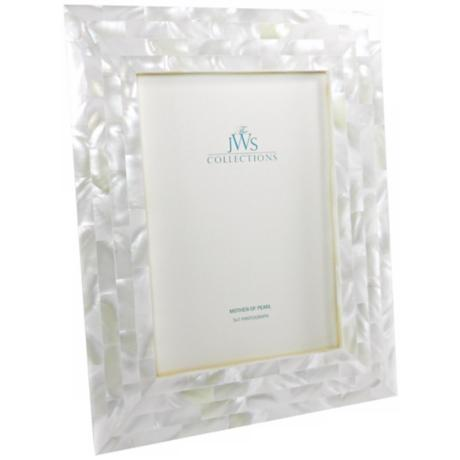 White Mother of Pearl 5x7 Photo Frame